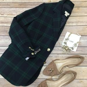 J Crew Plaid Jacket